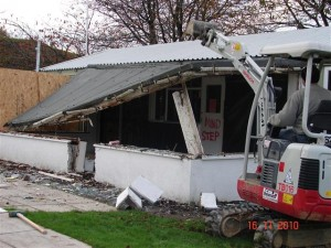 Removal of old Conservatory from Clubhouse